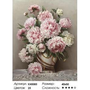 Розовые пионы Раскраска картина по номерам на холсте