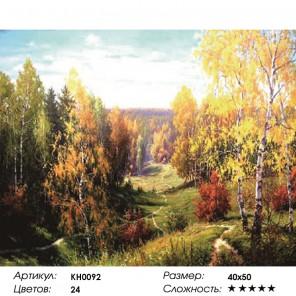 Бабье лето Раскраска картина по номерам на холсте