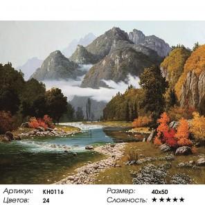 Количество цветов и сложность Разноцветие осени Раскраска картина по номерам на холсте KH0116