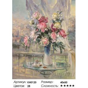 Количество цветов и сложность Утреннее настроение  Раскраска картина по номерам на холсте KH0120