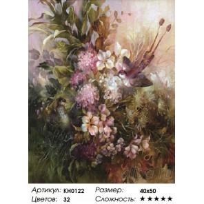 Количество цветов и сложность Райские птицы Раскраска картина по номерам на холсте KH0122