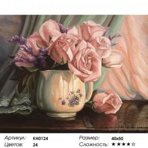 Количество цветов и сложность Розовое утро  Раскраска картина по номерам на холсте KH0124