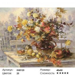 Количество цветов и сложность Дачная осень Раскраска картина по номерам на холсте KH0125