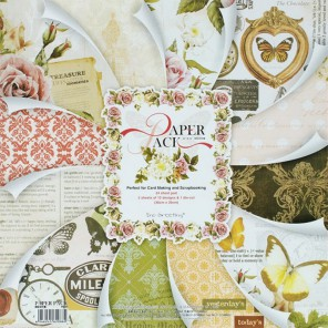 Силуэт бабочки Набор бумаги 30,5х30,5 см для скрапбукинга, кардмейкинга Белоснежка