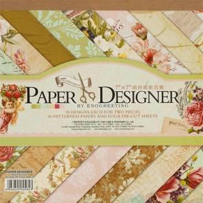 Вальс цветов Набор бумаги 17,5х17,5 см для скрапбукинга, кардмейкинга Белоснежка