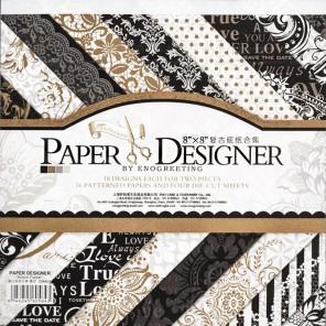 Черное золото Набор бумаги 20,3х20,3 см для скрапбукинга, кардмейкинга Белоснежка