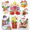 Новогодние свечи Набор 3D стикеров Белоснежка 2694-SB