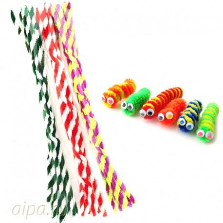 Карамелька Спираль Синельная пушистая проволока (шенил) для поделок и детского творчества 351-PM