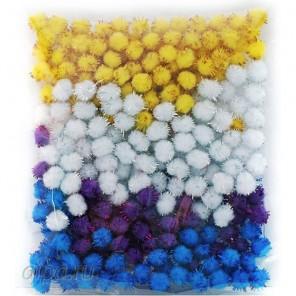 Иней Помпоны 10 мм блестящие декоративные для поделок 460-PM