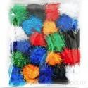 Салют Помпоны 40 мм блестящие декоративные для поделок 480-PM