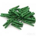 Зеленые Прищепки декоративные Белоснежка