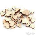 Сердечки мини Деревянные чипборды Белоснежка 841-DB