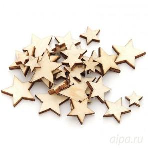 Звезды Деревянные чипборды Белоснежка