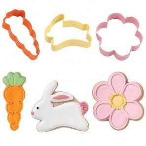 Заяц, морковь и цветок Формочки металлические для печенья Wilton ( Вилтон )