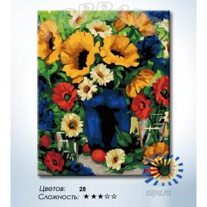 Количество цветов и сложность Деревенский букет Раскраска по номерам на холсте Hobbart HB4050356-LITE