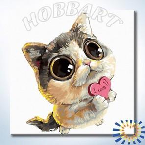 Количество цветов и сложность Без тебя - никак Раскраска по номерам на холсте Hobbart DZ2020004-Lite