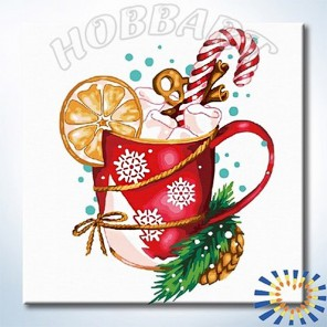 Количество цветов и сложность Праздничный коктейль Раскраска по номерам на холсте Hobbart DZ2020005-Lite