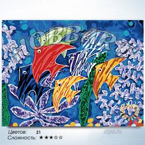 Количество цветов и сложность Краски моря Раскраска по номерам на холсте Hobbart HB3040100-Lite