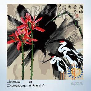 Количество цветов и сложность Журавли Раскраска по номерам на холсте Hobbart HB4040045-Lite