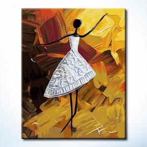 Количество цветов и сложность Балет Раскраска по номерам на холсте Hobbart DZ4050059-Lite