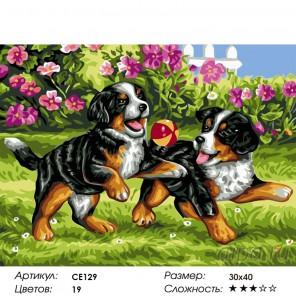 Количество цветов и сложность Игра в саду Раскраска картина по номерам на холсте CE129