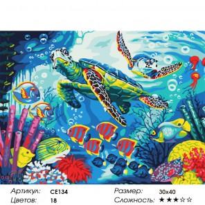 Количество цветов и сложность Тайны океана Раскраска картина по номерам на холсте CE134