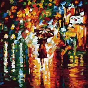 В дождь Алмазная вышивка (мозаика) на подрамнике Color Kit CKC014