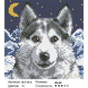 Количество цветов и сложность Вожак Алмазная вышивка мозаика на подрамнике Белоснежка 017-ST-S