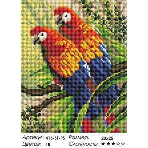 Попугаи Алмазная вышивка мозаика Белоснежка