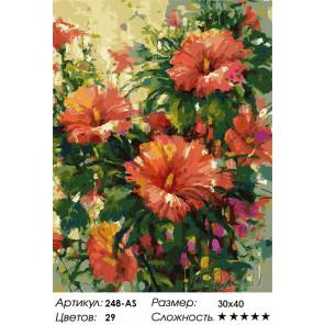 Мальва Раскраска картина по номерам на холсте Белоснежка