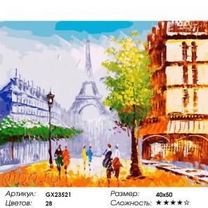 Мгновение Парижа Раскраска по номерам на холсте