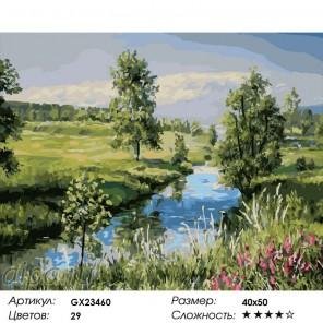 Русский пейзаж Раскраска по номерам на холсте