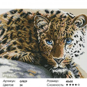 Количество цветов и сложность Леопард Алмазная мозаика вышивка Painting Diamond GF829