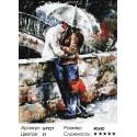 Количество цветов и сложность Двое под зонтом Алмазная мозаика вышивка Painting Diamond GF927