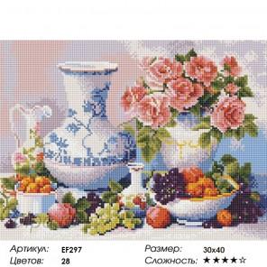 Натюрморт с фруктами Алмазная мозаика вышивка Painting Diamond