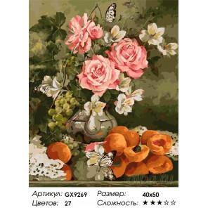 Количество цветов и сложность Летняя благодать Раскраска картина по номерам на холсте GX9269