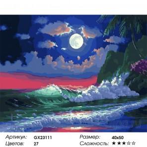 Морские волны Раскраска картина по номерам на холсте