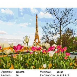 Парижский пейзаж Раскраска картина по номерам на холсте