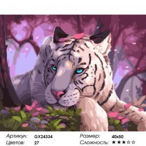 Голубоглазый бенгальский тигр Раскраска картина по номерам на холсте