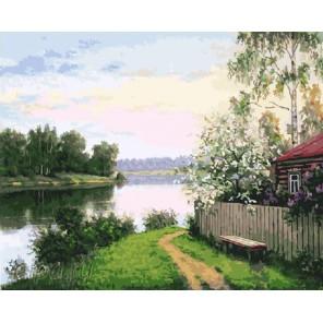 Дом на берегу Раскраска картина по номерам на холсте