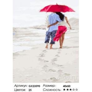 Вдвоем на пляже Раскраска картина по номерам на холсте