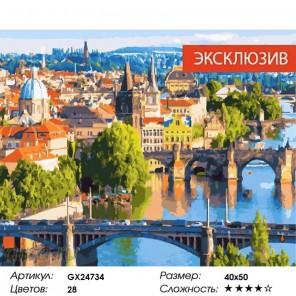 Мосты Праги Раскраска картина по номерам на холсте