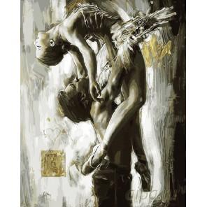 Танец двоих Раскраска картина по номерам на холсте