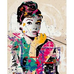 Одри Хепберн Раскраска картина по номерам на холсте GX4598