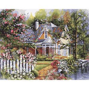 Викторианский сад Раскраска по номерам Plaid