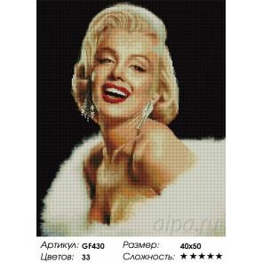 Количество цветов и сложность   Мерилин Монро Алмазная мозаика вышивка Painting Diamond GF430