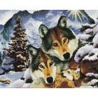 Семья волков Алмазная мозаика вышивка Painting Diamond GF499