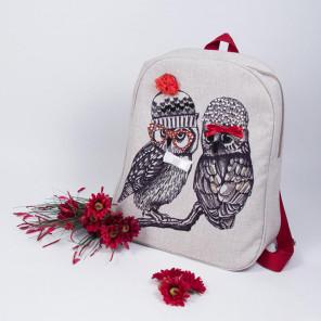 Совушки-подружки Набор для шитья и вышивания, текстильная сумка МАТРЕНИН ПОСАД