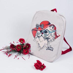 Леди в красном Набор для шитья и вышивания, текстильная сумка МАТРЕНИН ПОСАД
