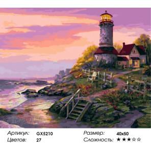 Количество цветов и сложность Маяк на закате Раскраска по номерам на холсте Menglei Z-GX5210